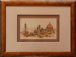 Postcard of Florence mobile picture framing melbourne