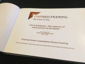 Inspired Framing delivers mobile picture framing in Melbourne