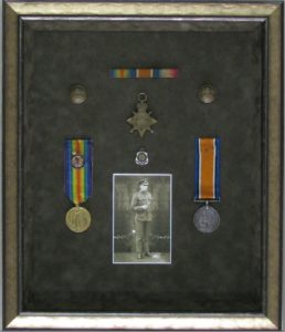 Beautiful WW1 Medals - mobile picture framing in Melbourne