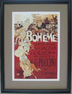 Custom framed opera print picture framing melbourne