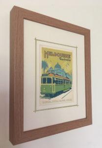 Buy framed vintage travel postcards Melbourne on etsy