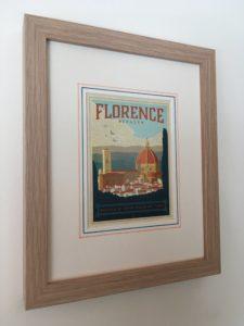 Inspired Framing Art Etsy Shop vintage travel postcards