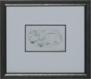 Pencil drawing of Benny mobile picture framing Melbourne