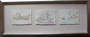 Boat watercolours mobile custom picture framing melbourne