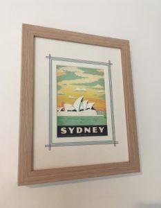 Vintage travel postcard Sydney Picture Framing Melbourne Inspired Framing